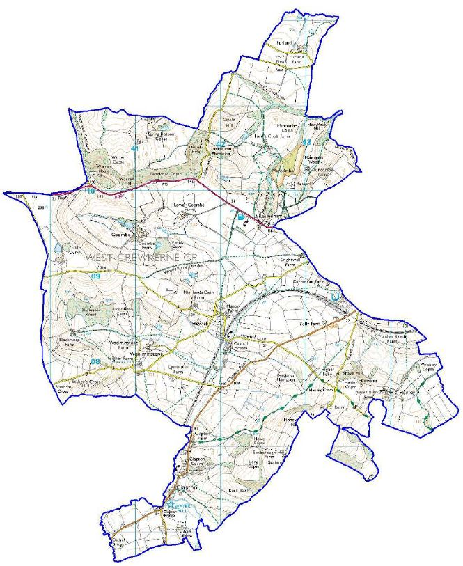 West Crewkerne Parish Map